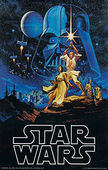 Star Wars Episode Iv A Hope 1977 Movie Poster 24 X36 Amazon In Home Kitchen