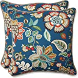 Pillow Perfect Outdoor Telfair Throw Pillow, 18.5-Inch, Peacock, Set of 2
