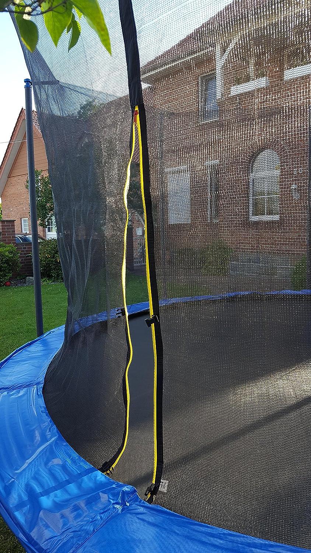 Ersatznetz Sicherheitsnetz !Innenliegend ! Fangnetz für Trampolin 305 365 396 427 cm ( 396 cm 6 Pfosten)