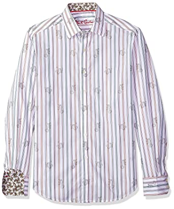 5e9e267c563 Amazon.com  Robert Graham Men s Monkey See Long Sleeve Shirt  Clothing