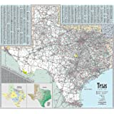 Texas Wall Map - Laminated 42w x 39h