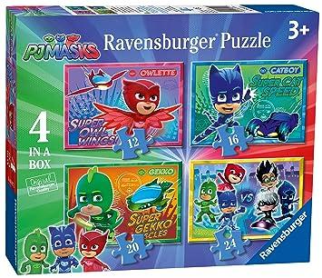 Ravensburger Caja de 4 Rompecabezas 6917, Rompecabezas DE 12, 16, 20 y 24