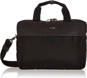 PacSafe Men's Intasafe X Anti Theft 13-inch Laptop Slim Brief, Black, 8 Liter