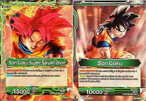 Carte Dragon Ball Super Bt1 056 Uc Son Goku Son Goku Super Saiyan Divin