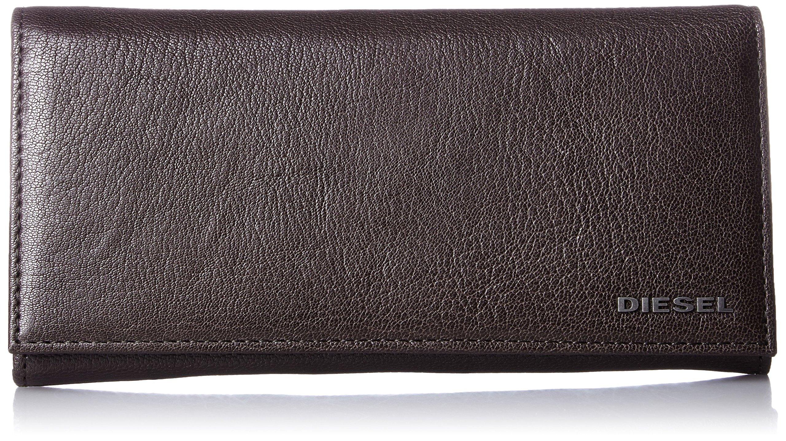 Diesel Men's Jem-J 24 A Day Wallet, Seal Brown, One Size