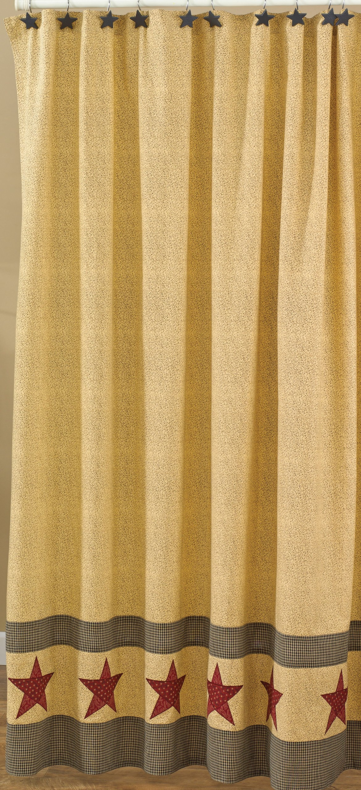 Park Designs Country Star Shower Curtain, 72 by 72''
