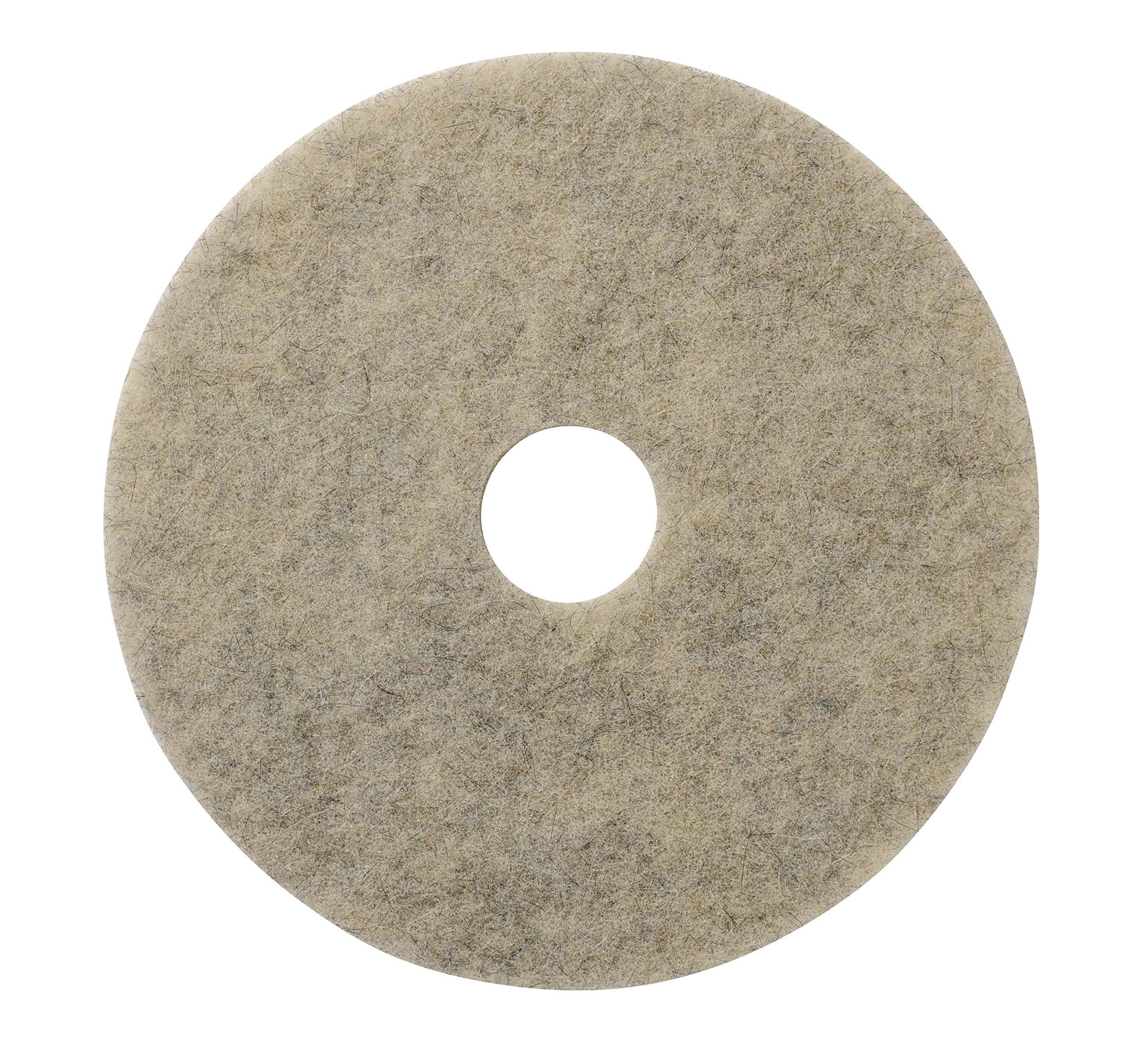 Glit/Microtron 401820 Jackaroo High Gloss Pad, Natural Fiber, 20'', Gray (Pack of 5)