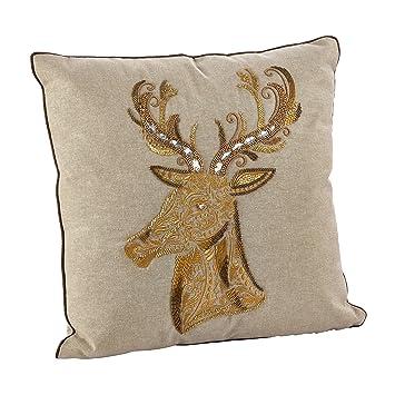 Amazon.com: Saro bordado con abalorio y almohada, diseño de ...