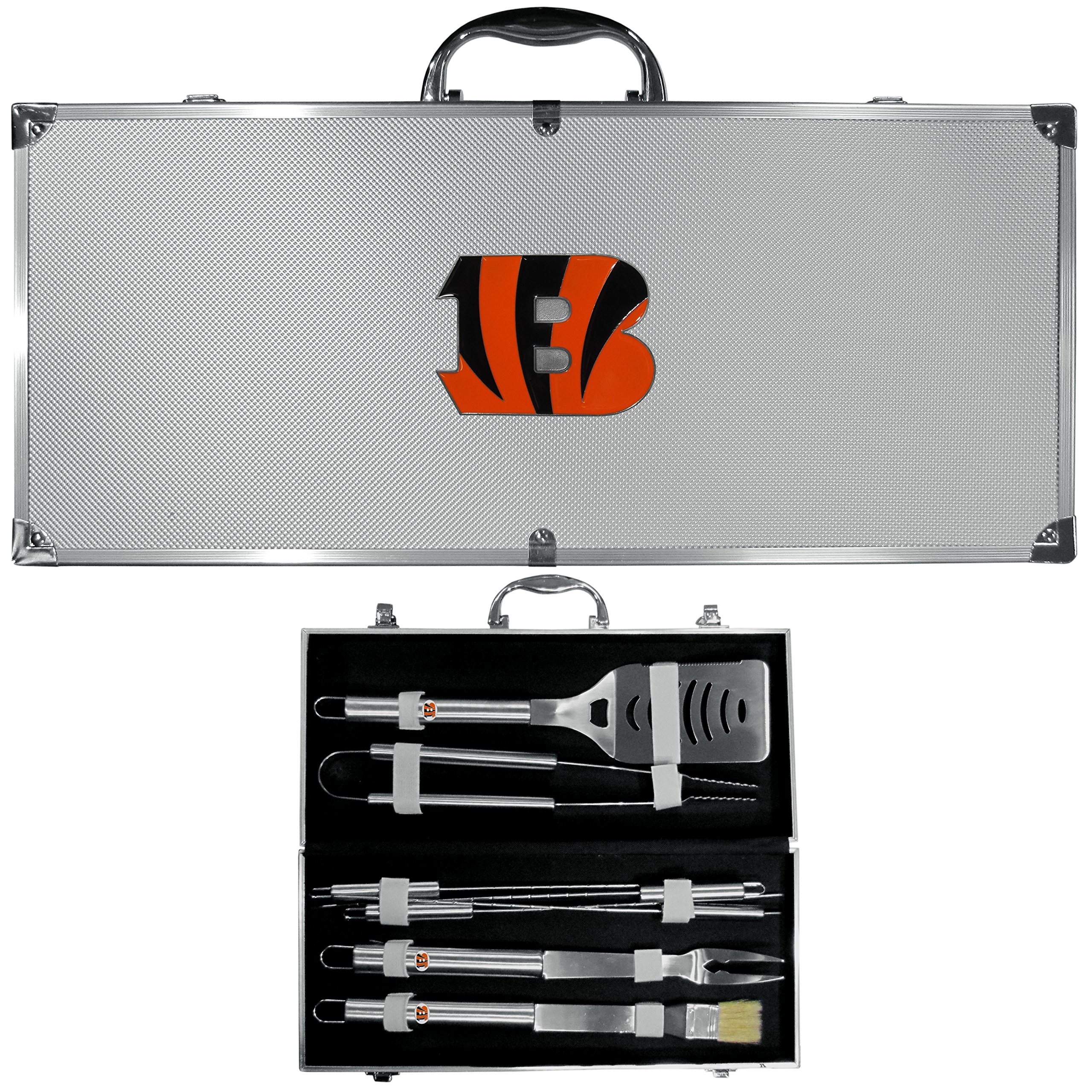 Siskiyou NFL Cincinnati Bengals 8-Piece Barbecue Set w/Case