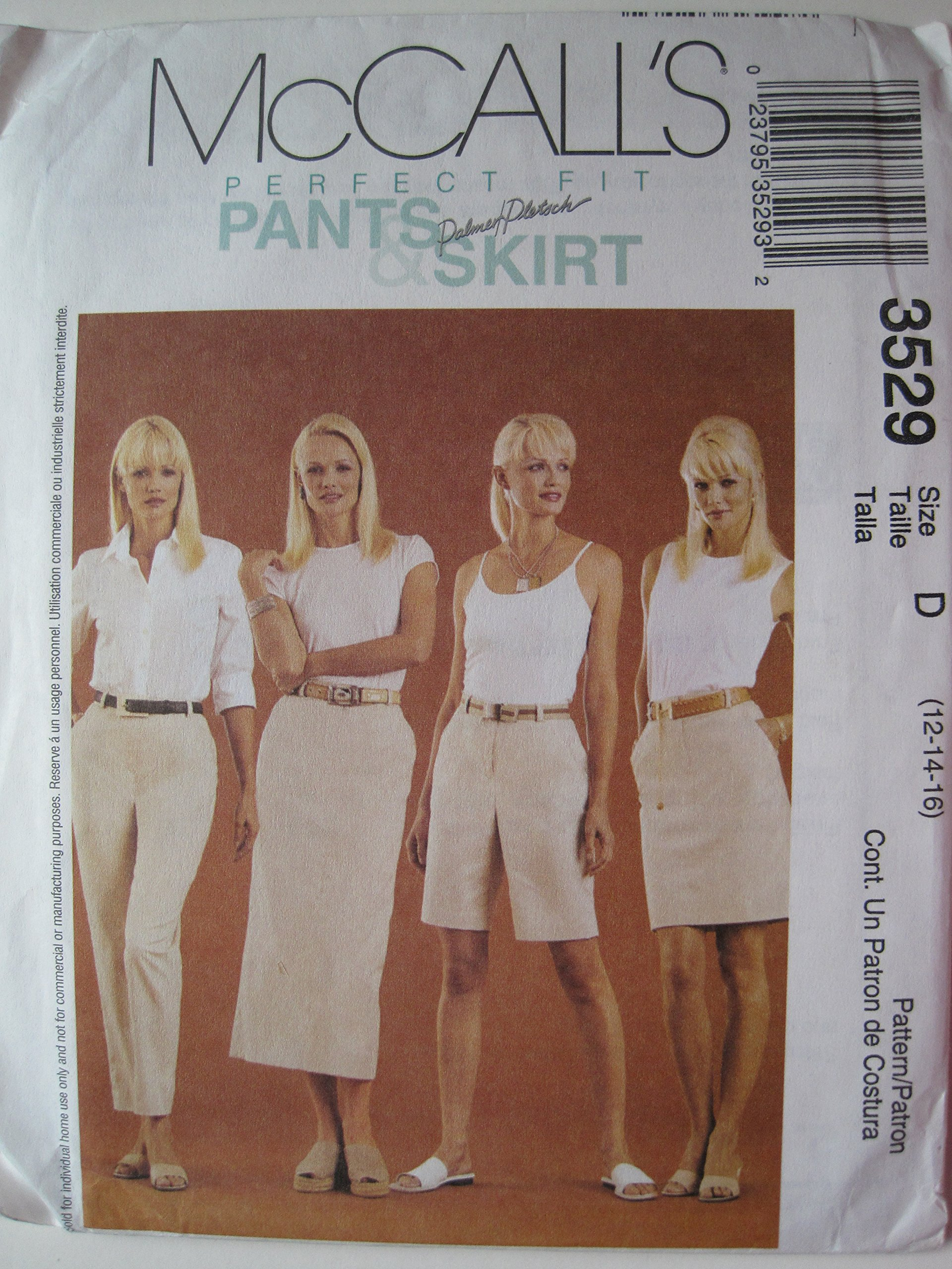Download McCall's Pattern 3529 Misses' Pants, Shorts and Skirt Sizes 12-14-16 ebook