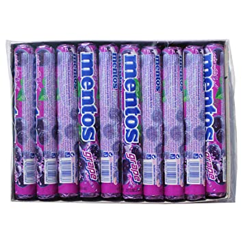 20 x Mentos Grape- 20 x 37.5g-Imported from Europe