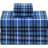 Ruvanti 100% Cotton Flannel Twin Sheets, 3 Pcs Twin XL Sheets Set Deep Pocket-Warm-Super Soft-Breathable & Moisture Wicking F