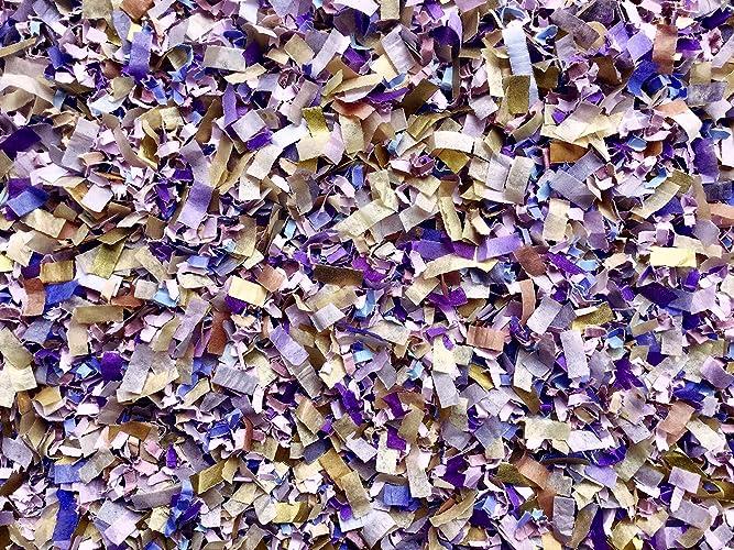 Amazon.com: Lavender Gold Biodegradable Confetti Mix Lilac Purple ...