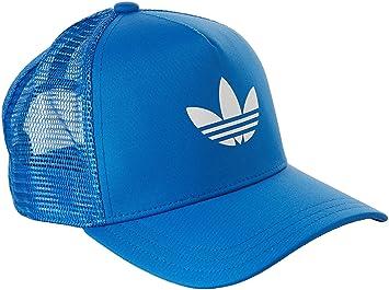 adidas Unisex s Women s Trefoil Trucker Cap-Blue White AZUCIE Blanco ... e1bd9118e137