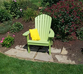 Polywood Adirondack Chair, Poly Wood Chairs For All Weather Outdoor  Seating, Outside Adirondacks Patio