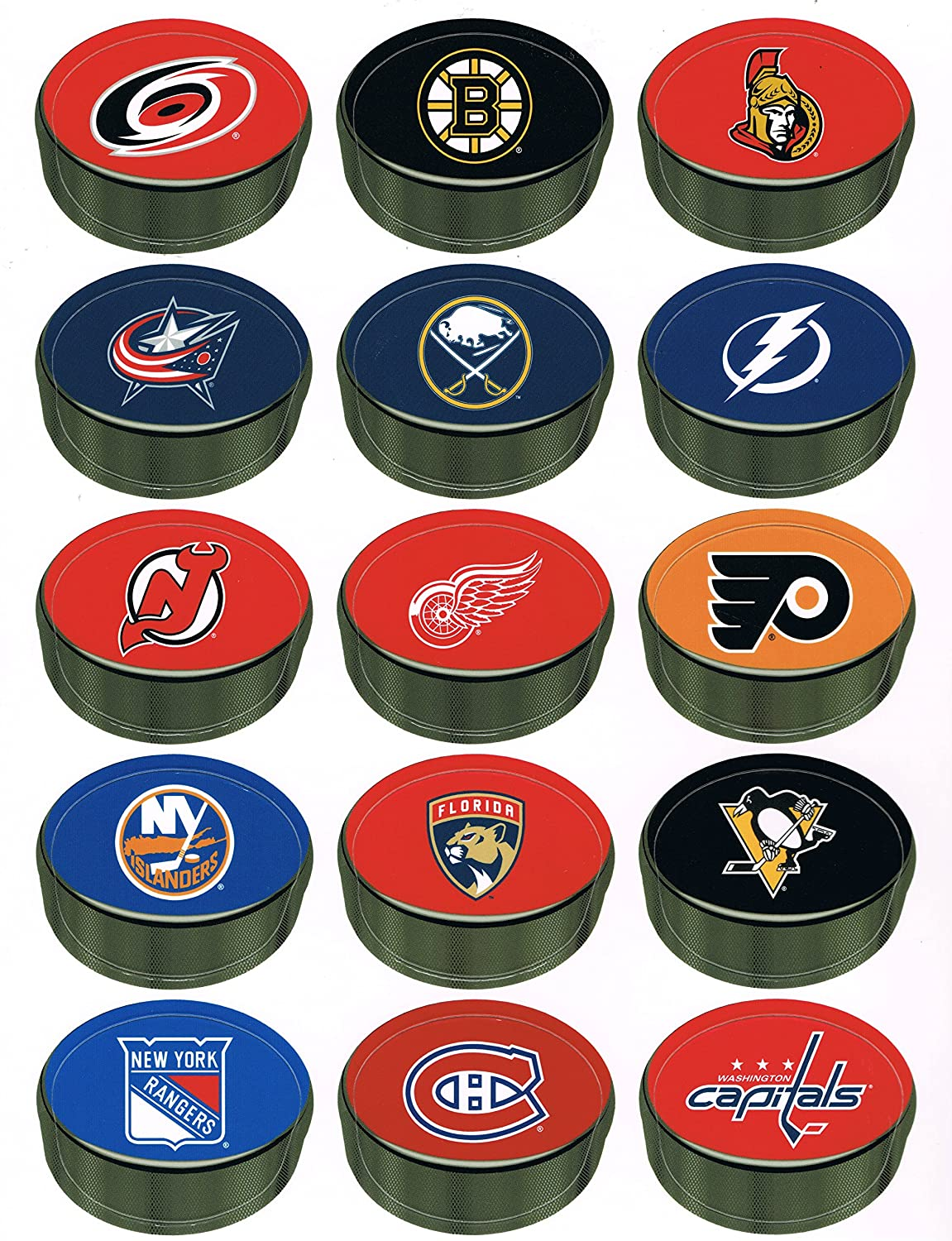 30 NHL Standings Board Magnets (No Board) for the Official NHL Deluxe Standings Board Wincraft