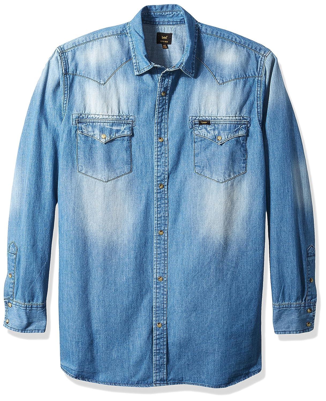 LEE Mens Denim Long Sleeve Shirt Heritage Western Regular Big Tall, Dark Wash, 3X: Amazon.es: Ropa y accesorios