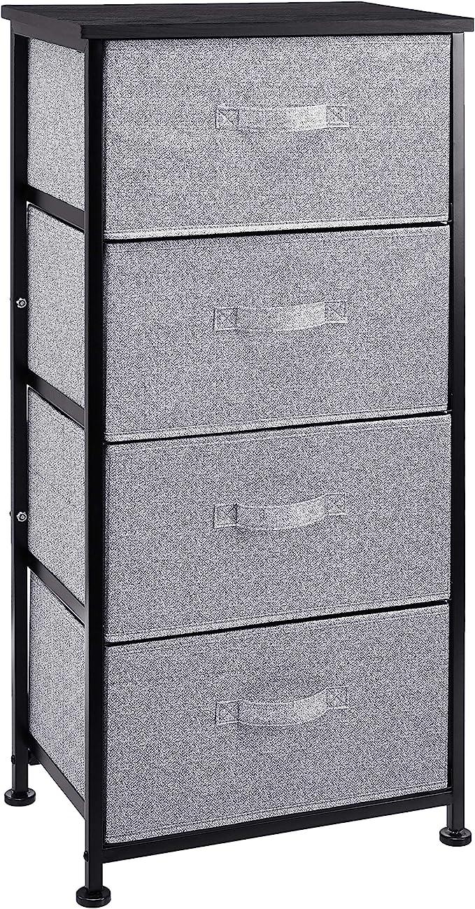 mit 5 extrabreiten Stoff-Schubladen Anthrazit bronzefarben Basics Aufbewahrungsschrank f/ür Kleiderschr/änke Extrabreite Ersatzschubladen aus Stoff f/ür Aufbewahrungsschrank mit 5 Schubladen