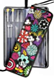 Knitting Needle Case Organizer Bag for Straight & Circular Needles, Crochet Hooks & Knitting Accessories