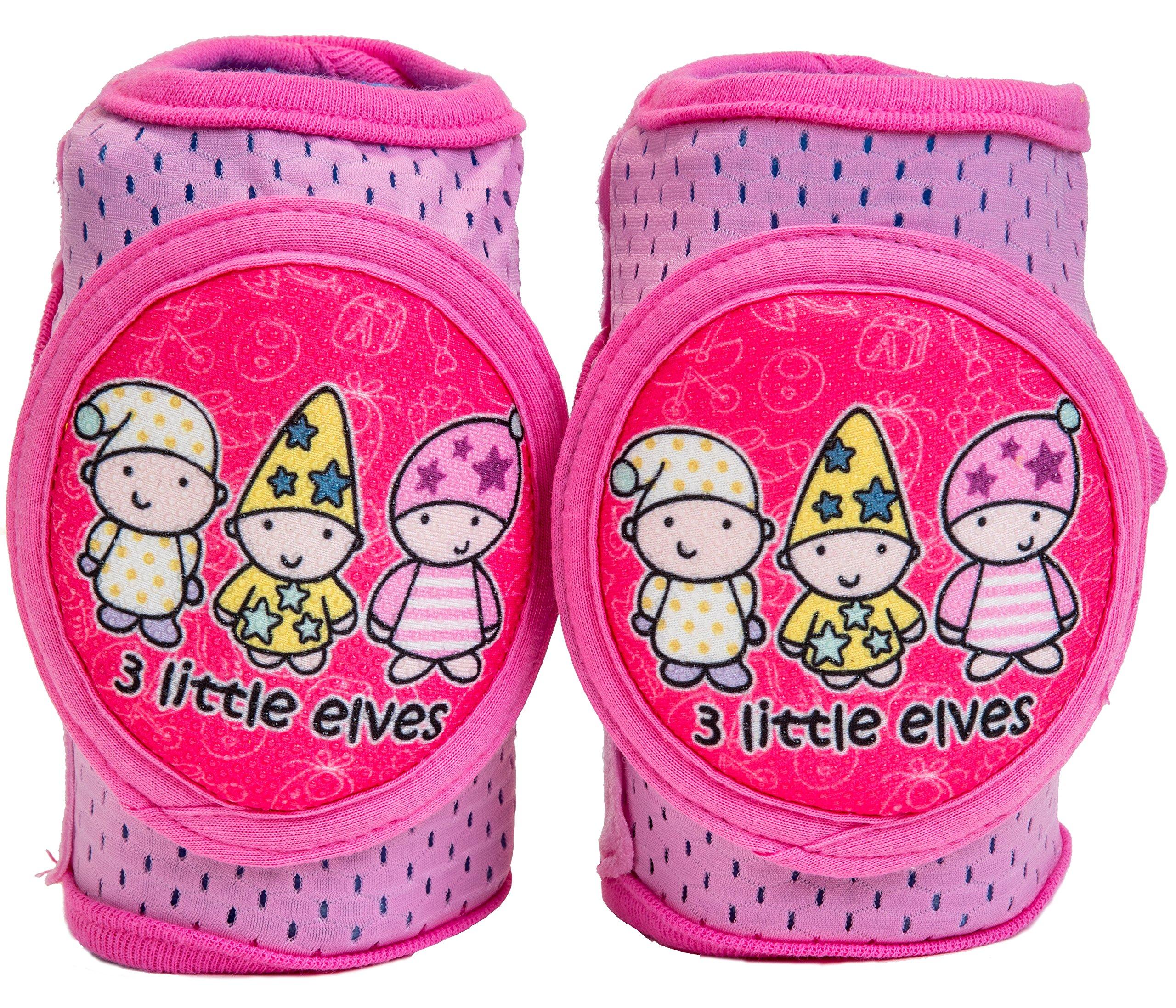 Baby Knee Pads Anti-Slip Walking Kneepads Adjustable Hook & Loop Strap Unisex For Boys Girls Infant Toddler Knee & Elbow Pads Memory Foam Pad Cushion Breathable Mesh Fabric Knee Pads For Babies by Kstar (Image #5)