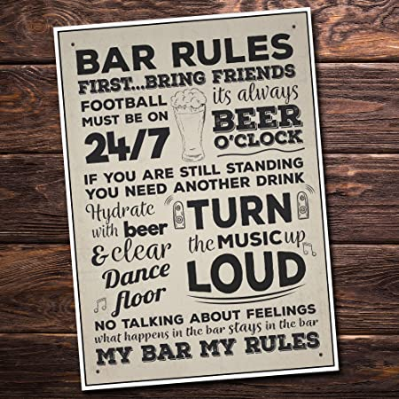 RED OCEAN Funny Bar License Alcohol Sign For Home Bar Pub Man Cave Novelty Decor Standing Plaque Bar Signs And Plaques
