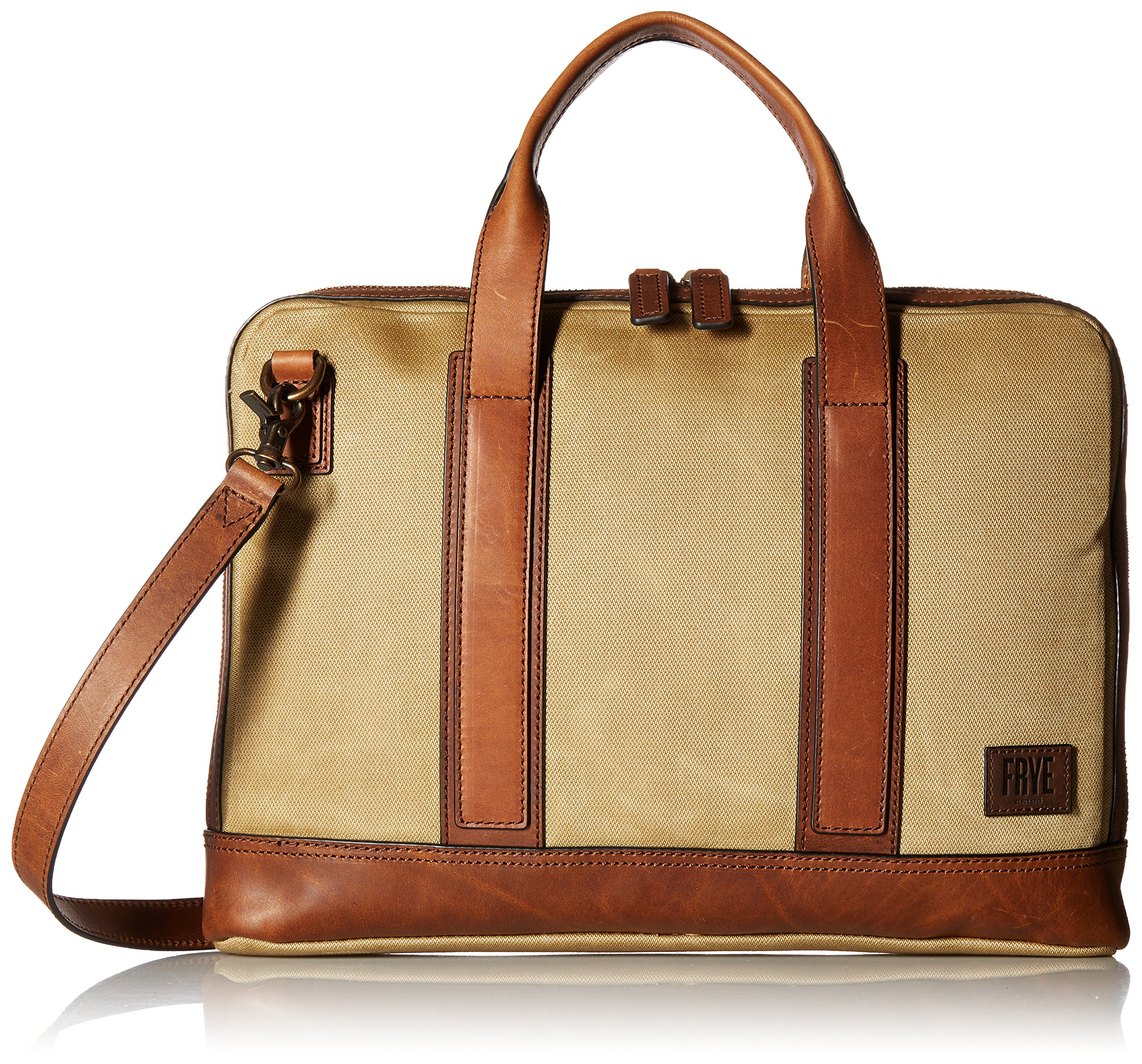 Frye Carter Slim Brief Case, Tan