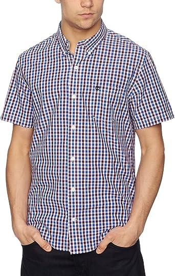 Timberland - Camisa a Cuadros de Manga Corta con Cuello con ...
