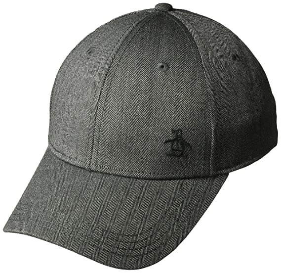 Amazon.com  Original Penguin Men s Herringbone A-Flex Baseball Cap ... 1e009366691