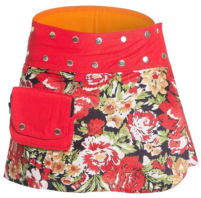 ufash Mini Falda Cruzada para Las Mujeres, de la India - con 18 ...