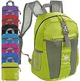 Faltbarer Rucksack für Männer Frauen Kinder Leichter Reiserucksack Tagesrucksack (BacPk-25-Green2018)