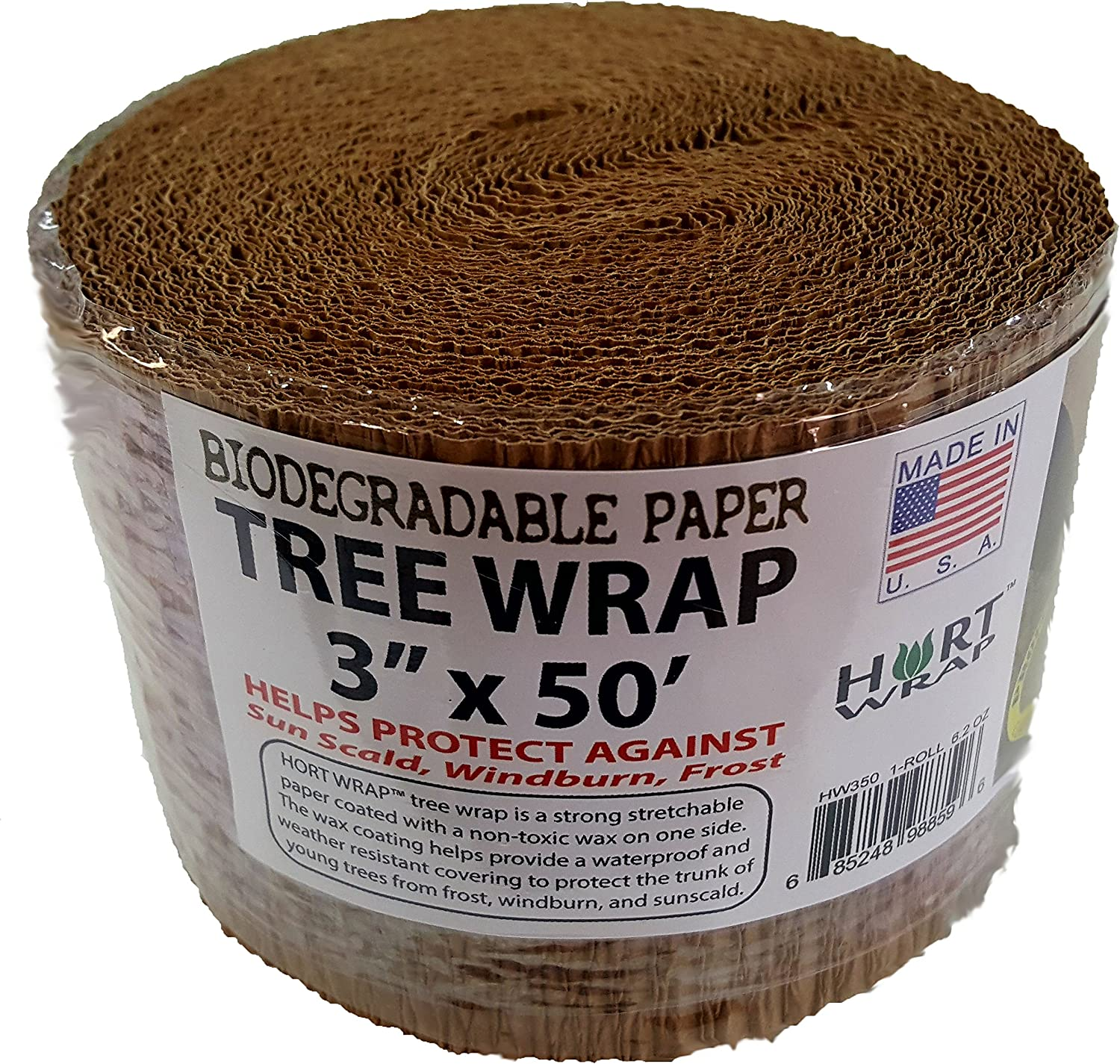 """HORT Paper Tree Wrap 3"""" x 50' roll, Commercial Grade"""