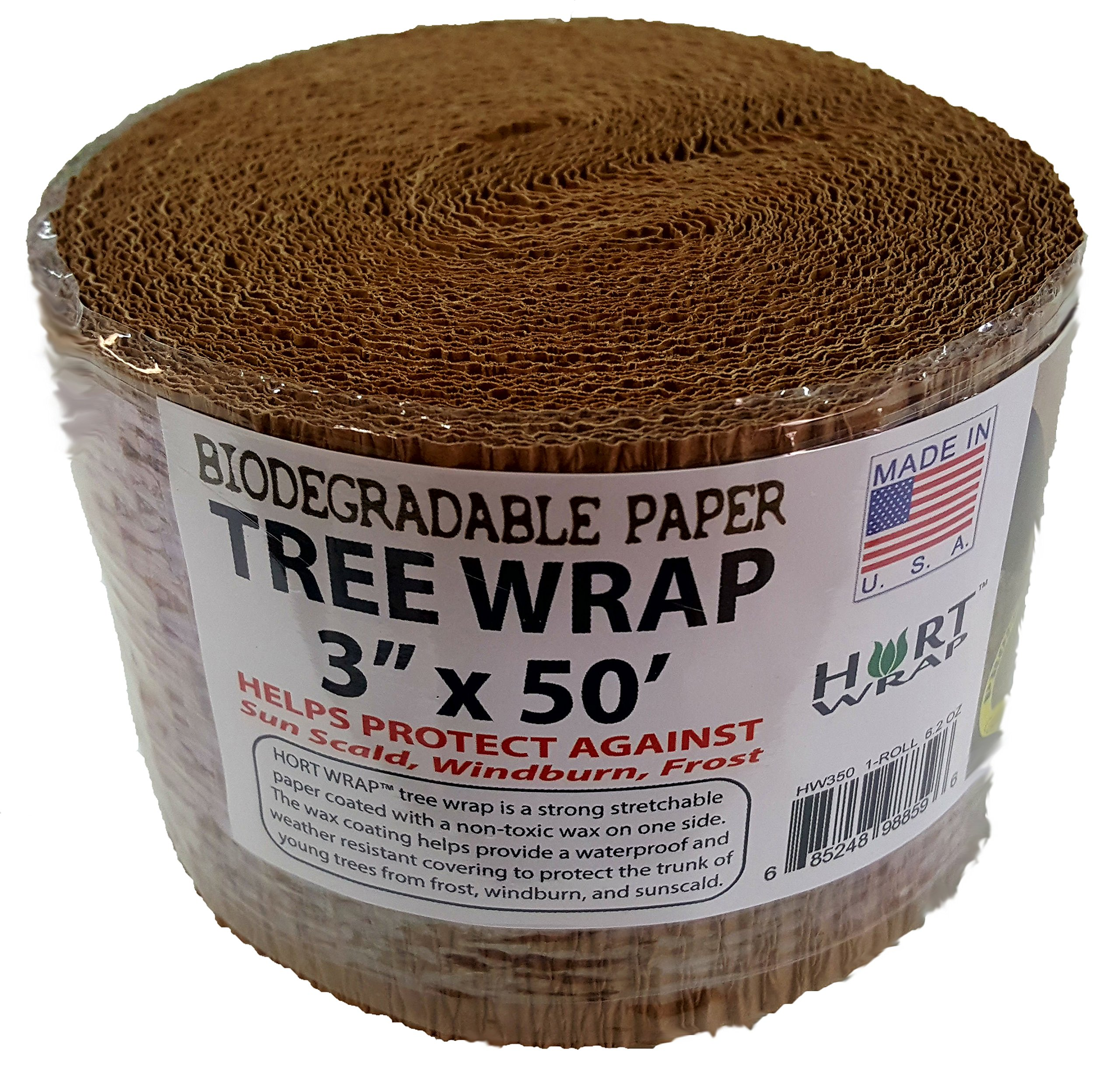 """Hort Paper Tree Wrap 3"""" X 50' Roll Commercial Grade 6"""