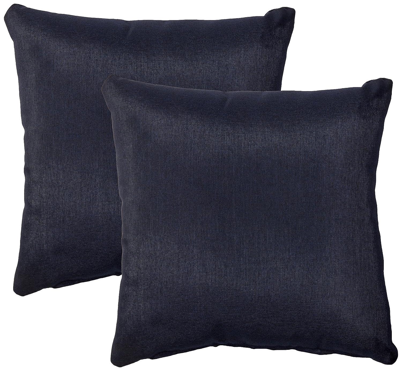 TK Classics Square Outdoor Throw Pillows, Set of 2, Tangerine PILLOW-TANGERINE-S-2x