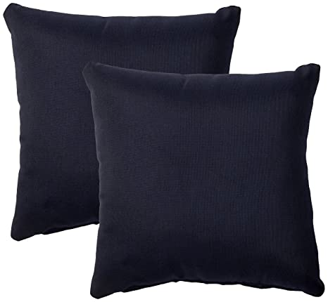 Charmant TK Classics Set Of 2 Outdoor Square Throw Pillows, Navy