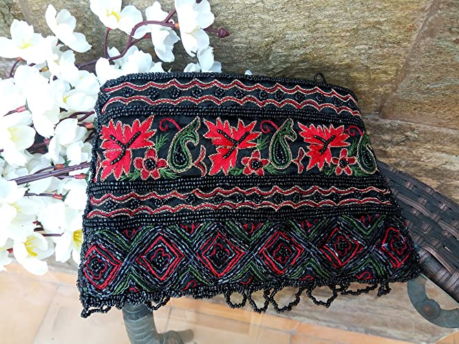 009b103a17 Image Unavailable. Image not available for. Color  Indian Banjara Clutch Bag  - tribal ...
