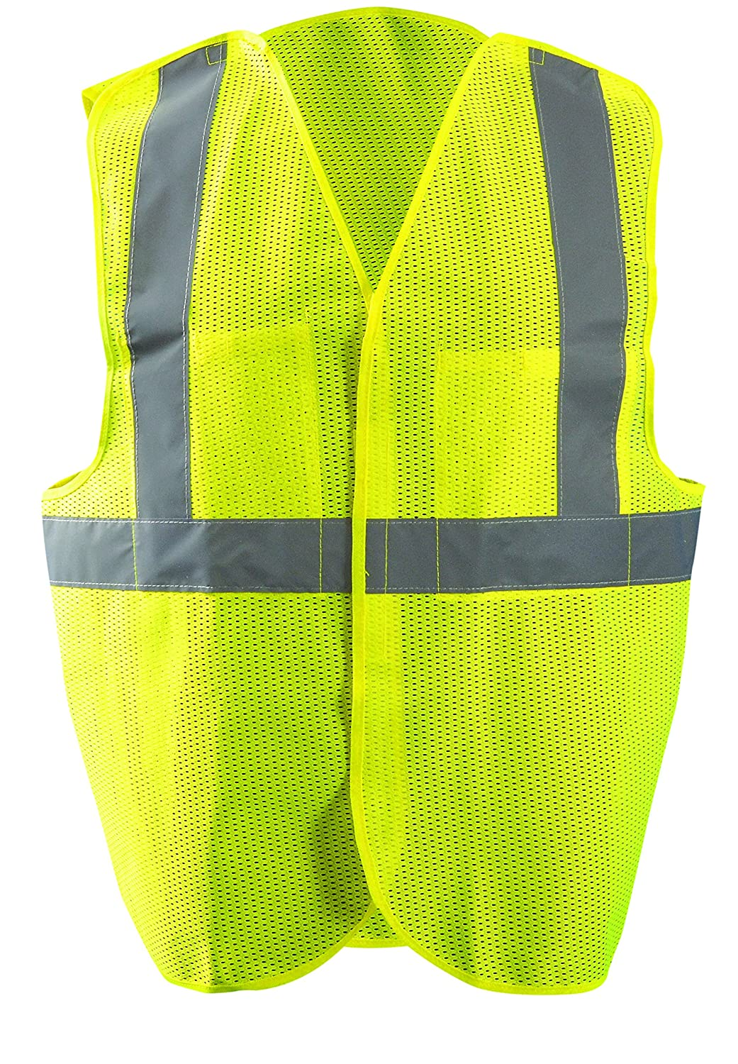 Large//X-Large Occunomix LUX-SSGCB-OL//XL Classic Mesh 5 Point Break-Away Safety Vests Orange