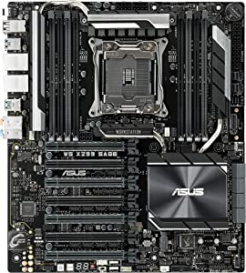 ASUS WS X299 SAGE LGA2066 DDR4 M.2 U.2 X299 CEB Motherboard for Intel Core X-Series Processors with Quad-GPU Support, DDR4 4200MHz, Dual M.2 & U.2 Support