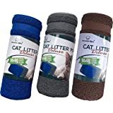 Cat Litter Tray Mat Deluxe Version (LARGE, Grey) 90x60 cm. SUPER SIZE - Great Quality, Traps Litter Easily, Looks Great, Easily Washable. Car Boot Pet Mat. Perfect for Paw Cleaning. Fully Guaranteed.