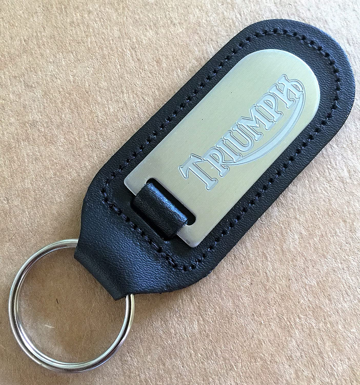 Genuine Leather Keyring Keyfob Triumph Keyring