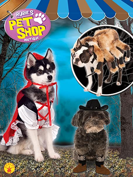 Rubies Halloween Pet Shop Boutique Giant Spider Dog Fancy Dress Outfit Size S//M