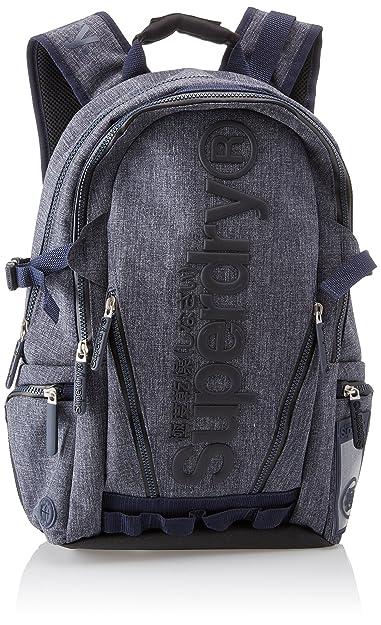 Superdry Men's Legend Tarp Backpack Blue Blu (Navy Grit)