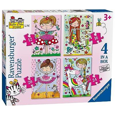 Ravensburger 6901 Rachel Ellen Fairytale Favourites 4 en una Caja Puzzles de Sierra - 12, 16, 20 y 24 Piezas: Juguetes y juegos