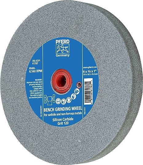 4 Diameter 7//8 Trim Length Silicon Carbide Grain 5//8 Arbor Hole 120 Grit 3//4 Face Width PFERD 83694 Wide Face Wheel Brush 12000 RPM