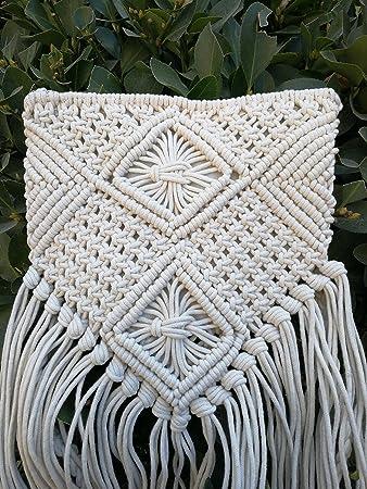 Amazon.com: Funda de almohada hecha a mano macramé Cruz ...