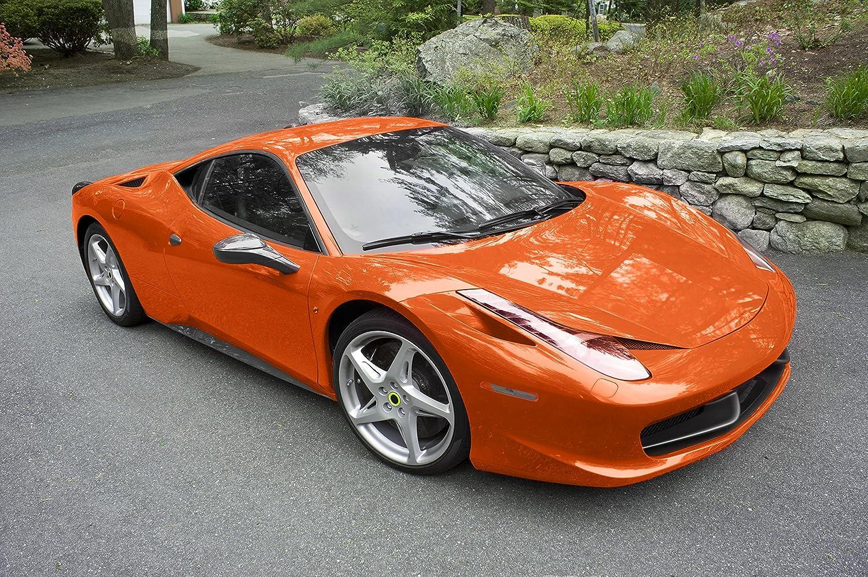 1ft x 5ft VViViD Orange High Gloss Realistic Paint-Like Microfinish Vinyl Wrap Roll XPO Air Release Technology