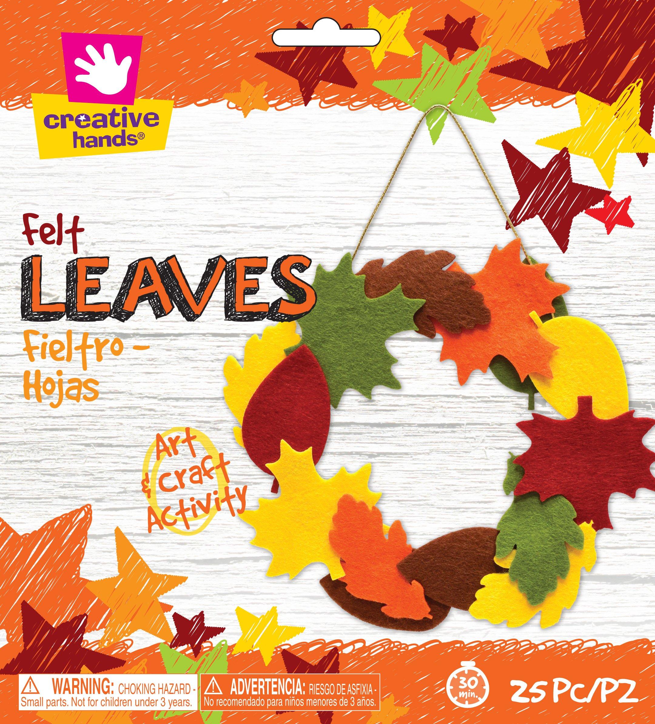 Creative Hands Felt Leaves 3'' Decorations