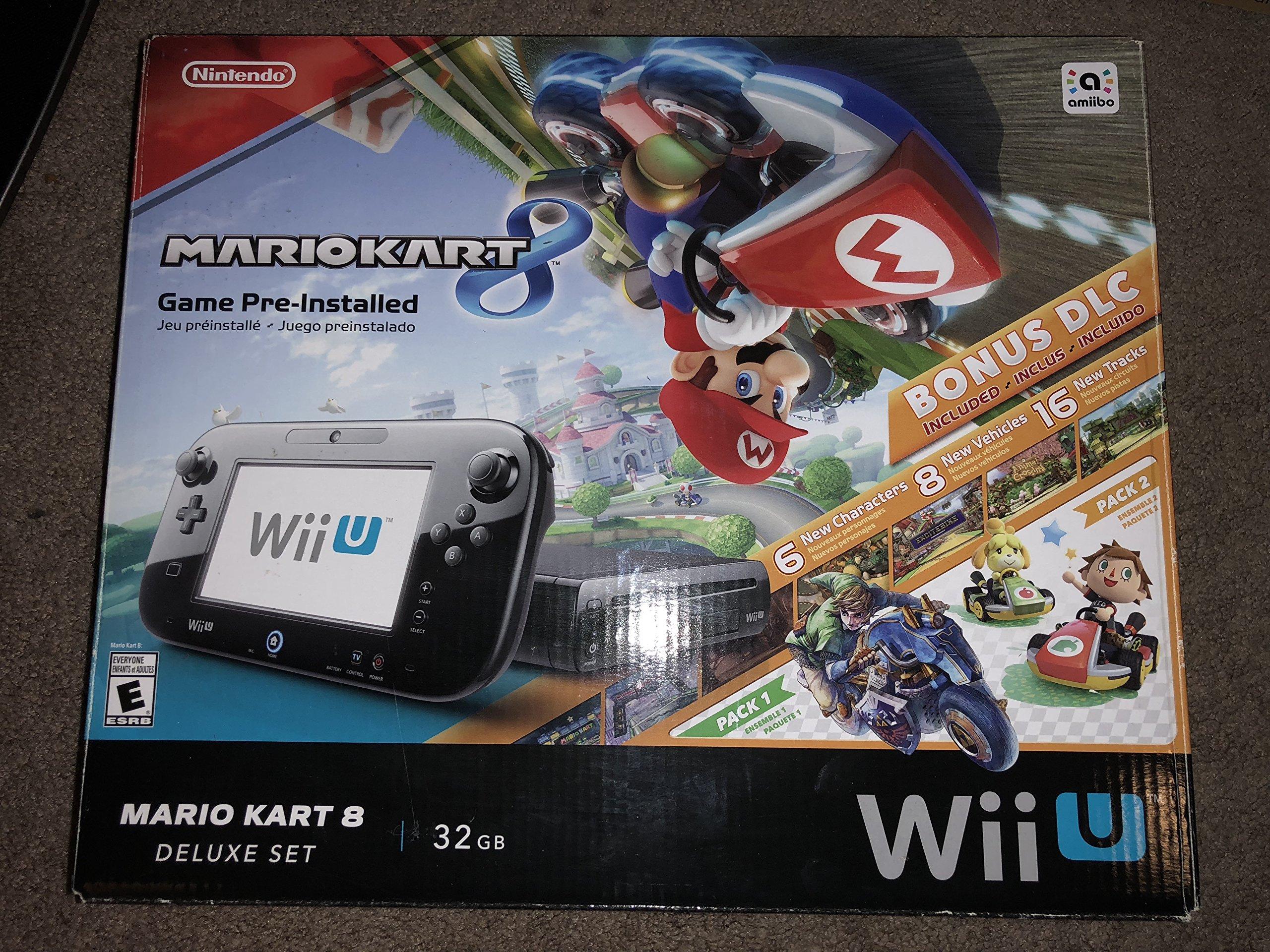 Nintendo Wii U Mario Kart 8 Deluxe Bundle (Black) by Nintendo