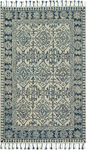 """Loloi Rugs, Zharah Collection - Mist / Blue Area Rug, 2'6"""" x 7'6"""""""