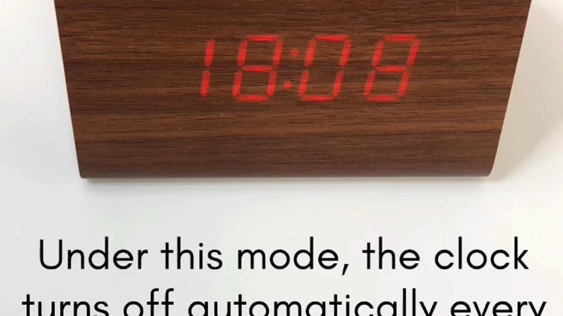 uskomattomia hintoja virallinen myymälä halpa Set up instruction for Oct17 Wooden Digital Alarm Clock
