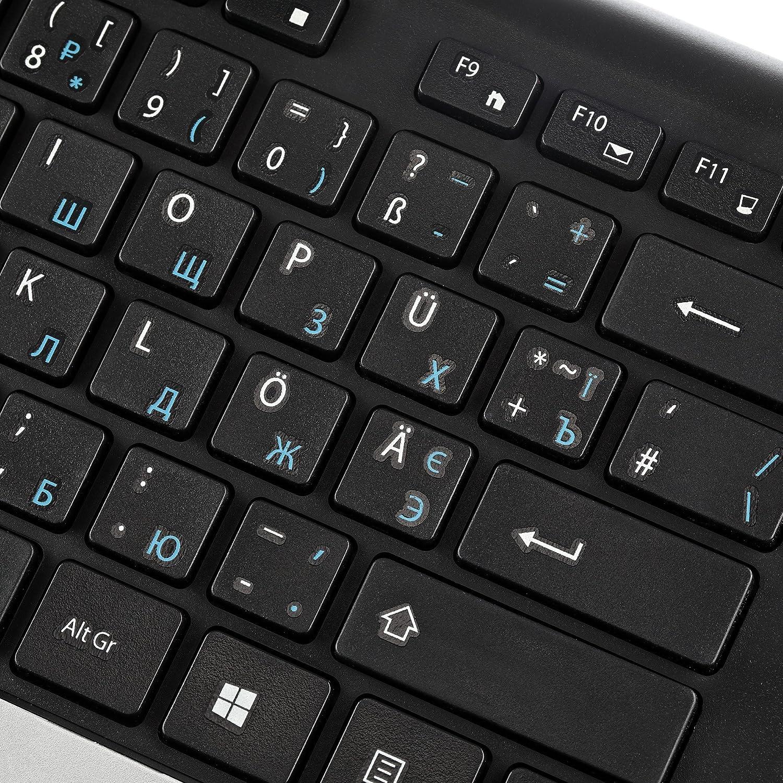 bilinguale Ruso Alemán de teclados negro negro LUCER-DR514: Amazon.es: Electrónica
